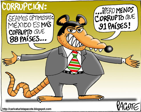 mexico corruption Accused for decades of politically slanted news coverage, televisa represents another rarely spoken fact: modern mexico has never functioned without corruption, and.